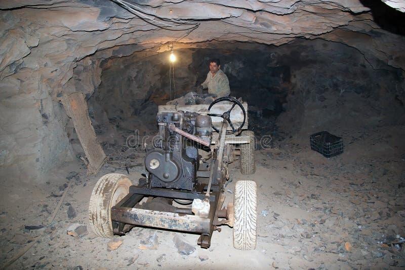 Mineiro nas minas de Wanda na província de Misiones, Argentina imagens de stock