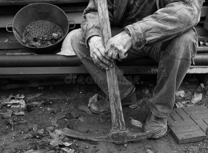 Mineiro ucraniano imagens de stock