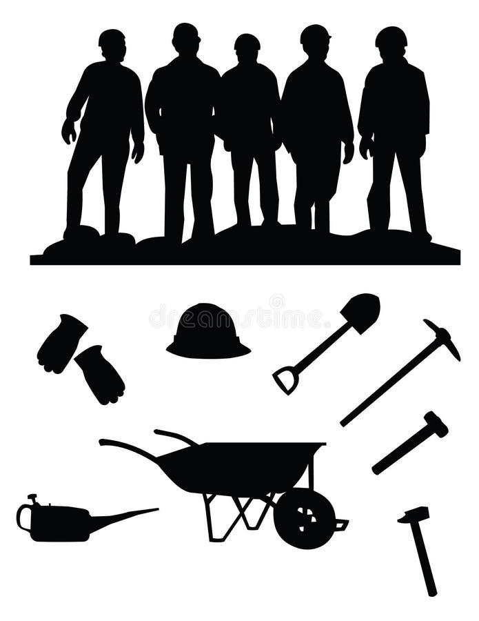 Mineiros ilustração do vetor