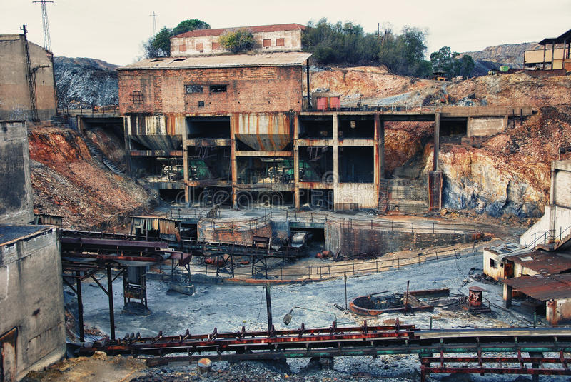 Minenindustrie lizenzfreies stockbild