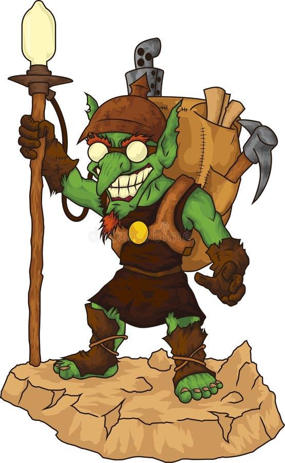 Miner Goblin royalty free stock photography