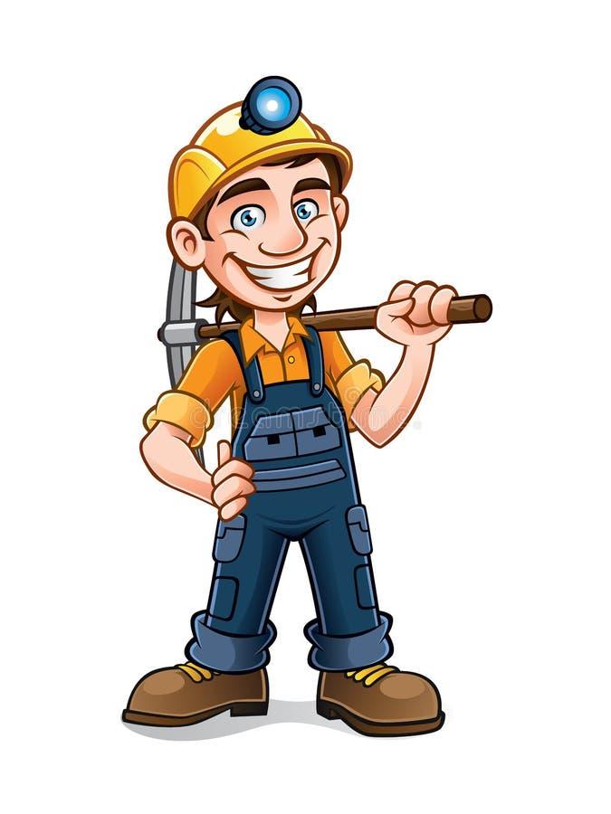 Miner royalty free illustration