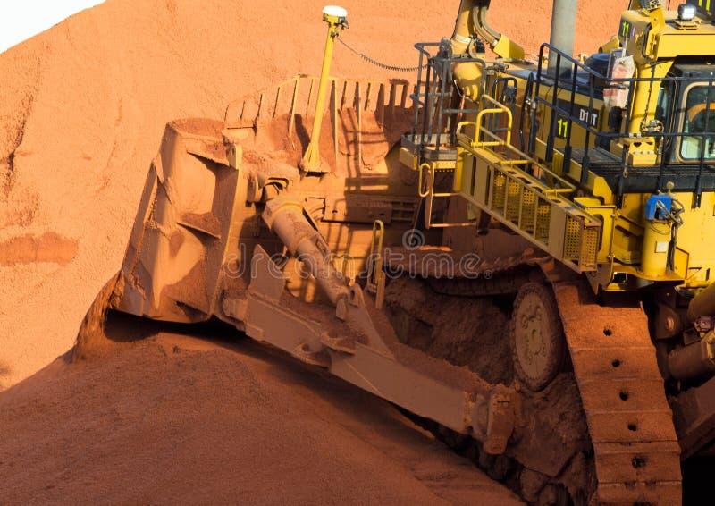 Mineração da bauxite fotografia de stock royalty free