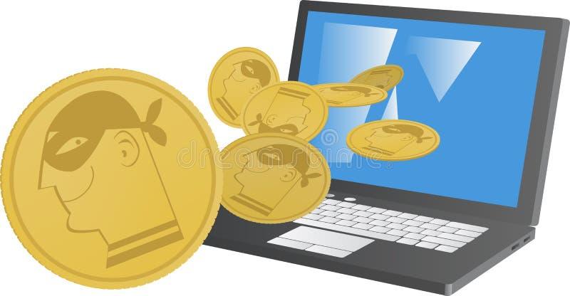 Mineração de Cryptocurrency ilustração stock