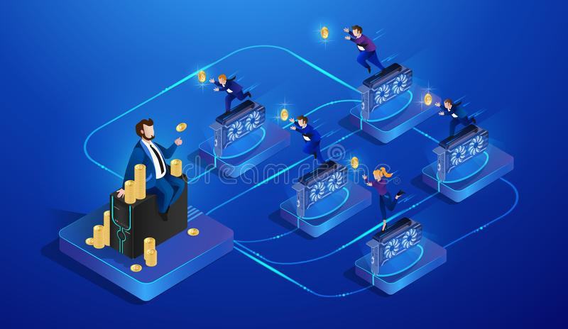 Mineração de Cryptocurrency Ilustração do vetor ilustração stock
