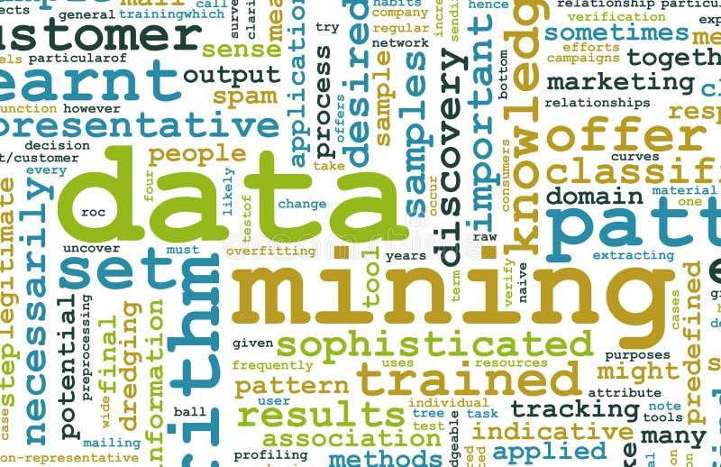 Mineração de dados ilustração royalty free