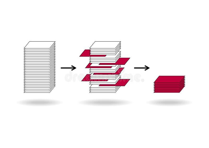 Mineração de dados ilustração do vetor