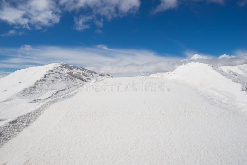 Mineração de sal imagem de stock