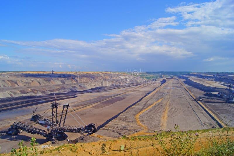Mineração do lignite imagens de stock