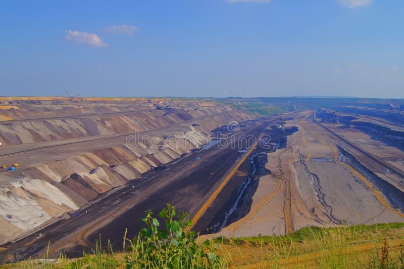 Mineração do lignite fotografia de stock royalty free