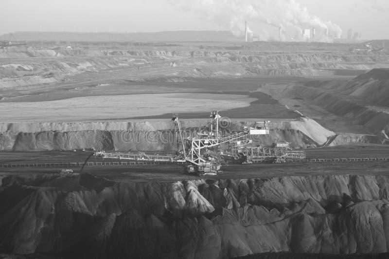 Mineração do lignite imagem de stock