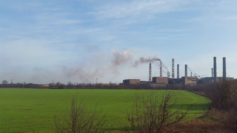 Mineração do norte e fábrica de tratamento ucrânia Krivoy Rog imagem de stock royalty free