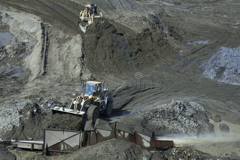 Mineração do ouro em Kolyma imagens de stock