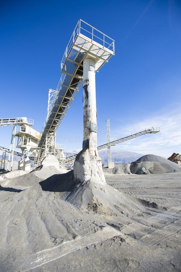Mineração e fábrica de tratamento de poço aberto imagens de stock