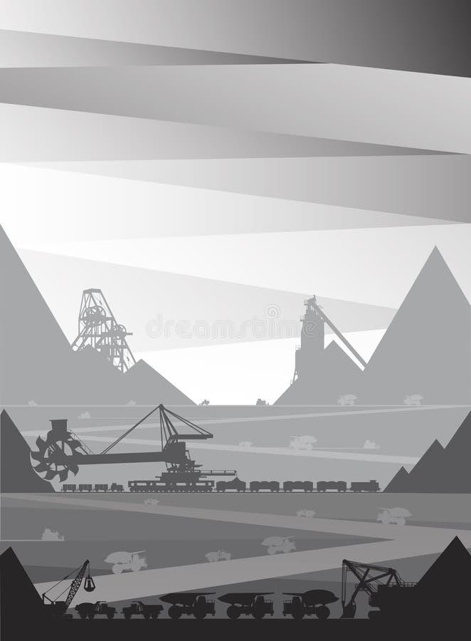 Mineração em qual o minério é minado ilustração royalty free