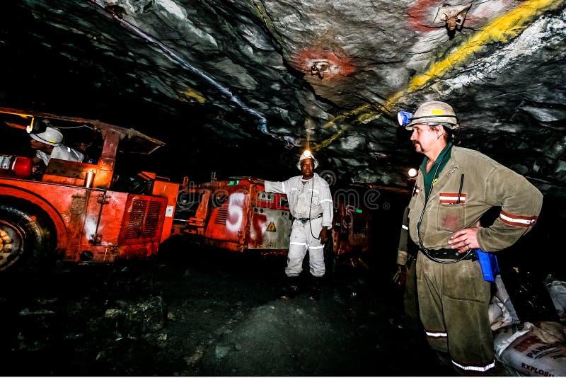 Mineração subterrânea e maquinaria do paládio da platina imagem de stock