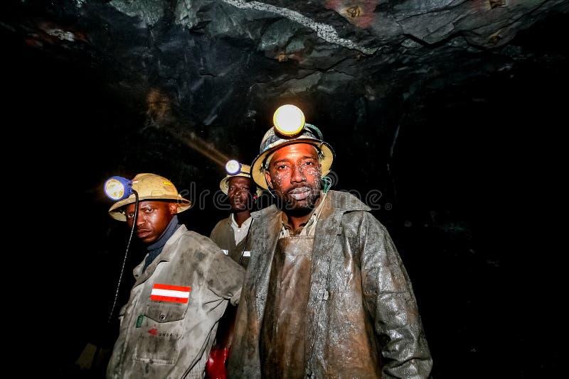 Mineração subterrânea e maquinaria do paládio da platina imagens de stock royalty free