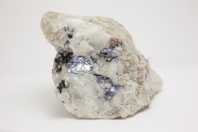 Mineraal: Molybdenite stock afbeelding