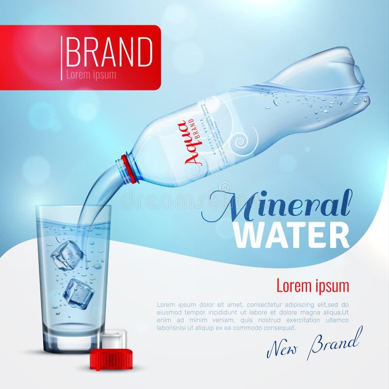 Mineraalwater de Affiche van het Reclamemerk stock illustratie