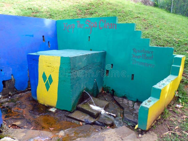 Mineraalwater in vincent st en de grenadines royalty-vrije stock foto's
