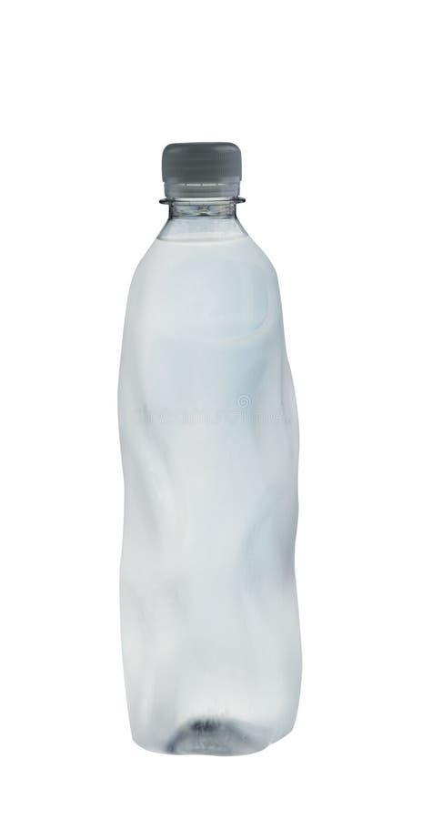 minerai complètement d'isolement de bouteille au-dessus de blanc de l'eau images libres de droits
