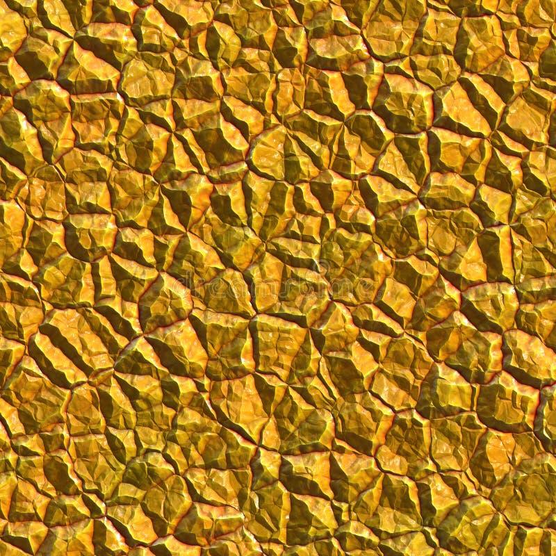 Minerai cru d'or illustration libre de droits