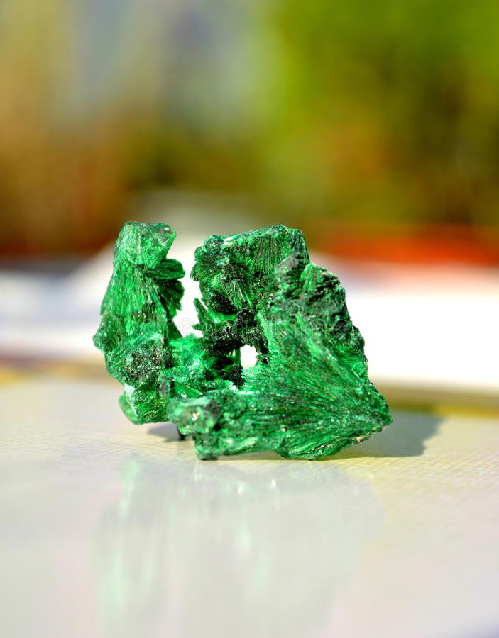 Minerai de malachite photographie stock