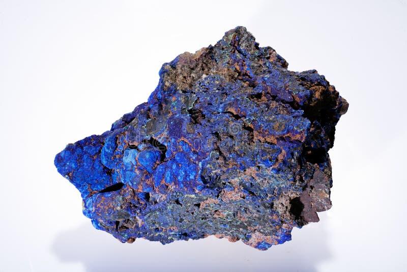 Minerai de malachite d'azurite photographie stock libre de droits