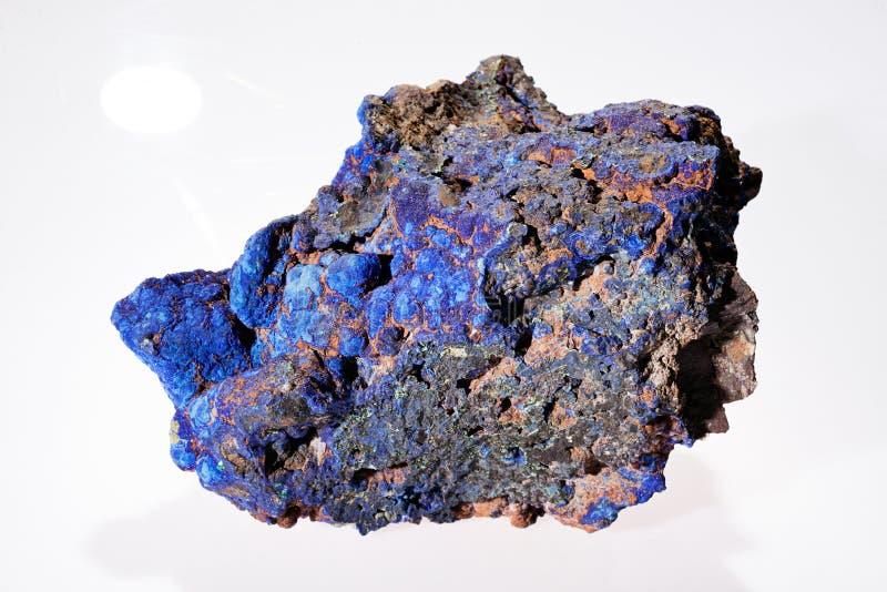 Minerai de malachite d'azurite images libres de droits