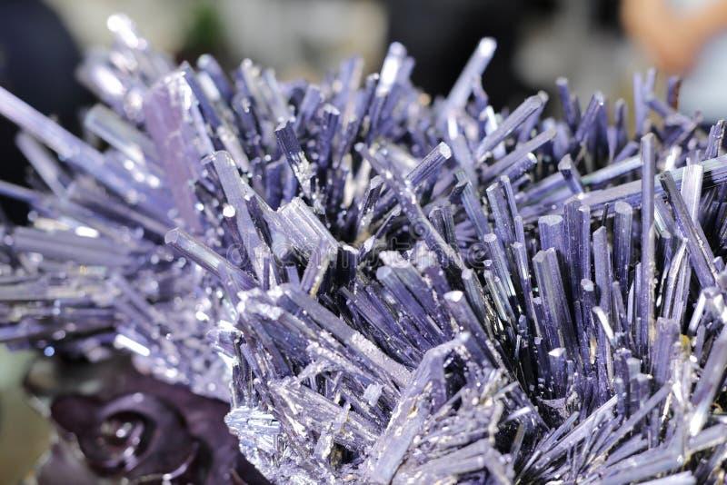 Minerai de Stibnite image stock