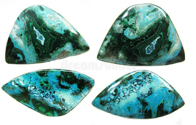 Minerai géologique de texture d'abrégé sur Chrysocolla image libre de droits
