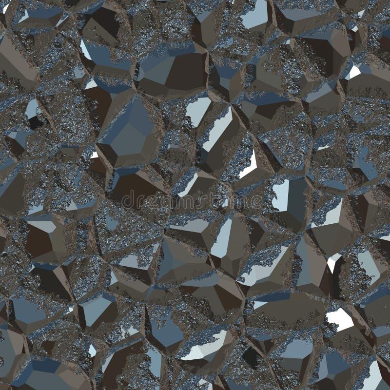 Minerai noir métallique illustration libre de droits