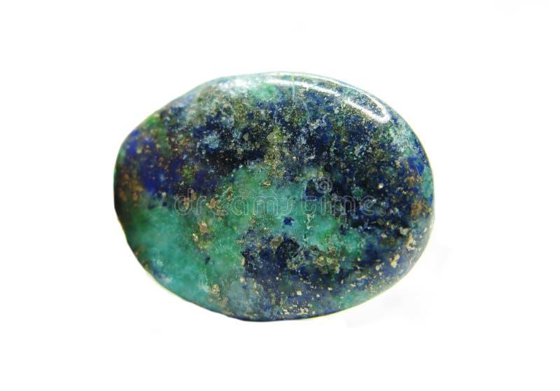Minerai semi-précieux de malachite d'Azur photographie stock