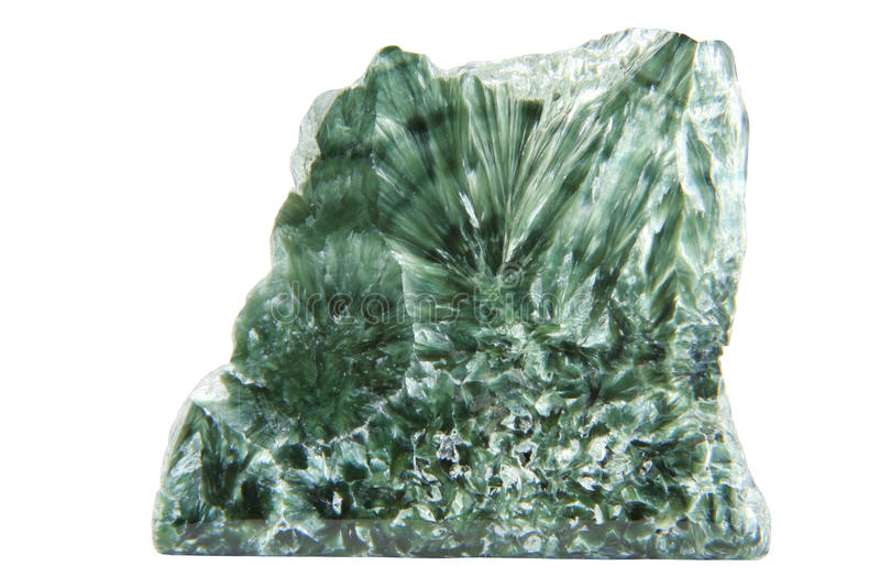 Minerai vert avec du chlore photographie stock