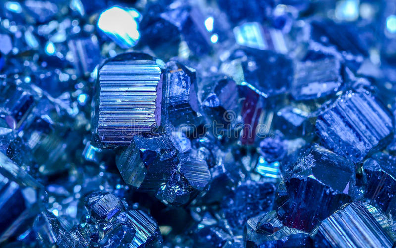 Minerais azuis imagem de stock