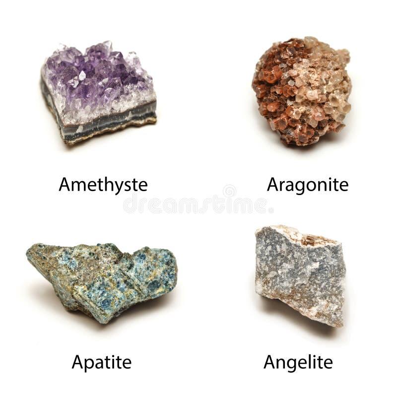 Minerais crus imagens de stock