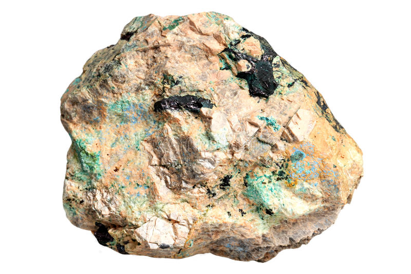 Minerais de cuivre - lazurite, azurite, malachite images stock