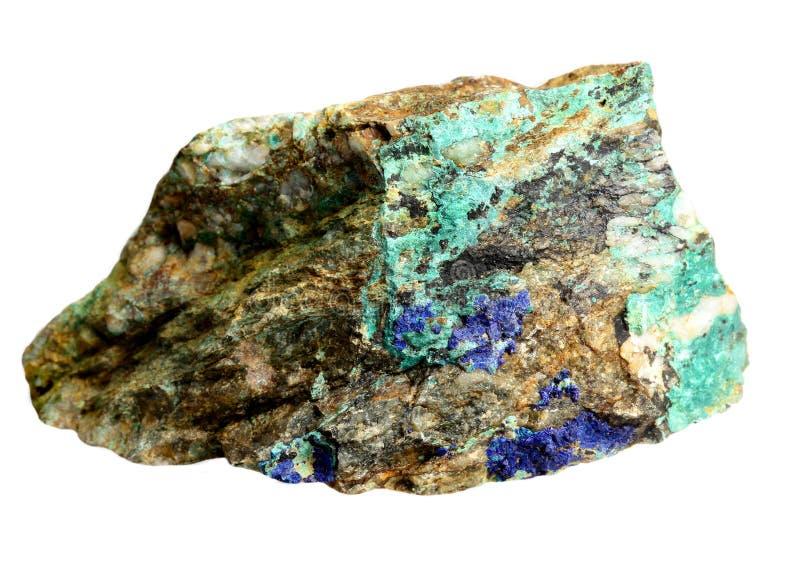 Minerais de cuivre - lazurite, azurite, malachite images libres de droits