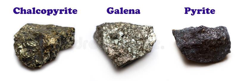 Minerais do sulfureto imagens de stock royalty free