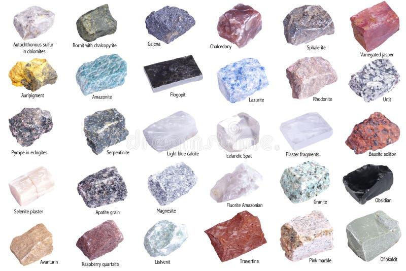 Minerais Isolados Foto de Stock Royalty Free