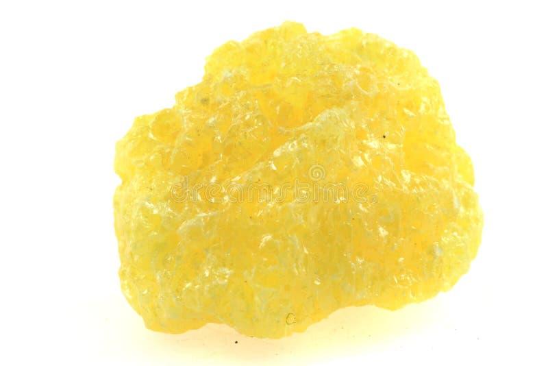 Mineral amarillo del azufre imagenes de archivo