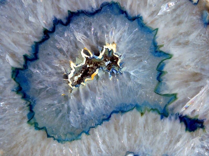 Mineral azul de la geoda imagenes de archivo