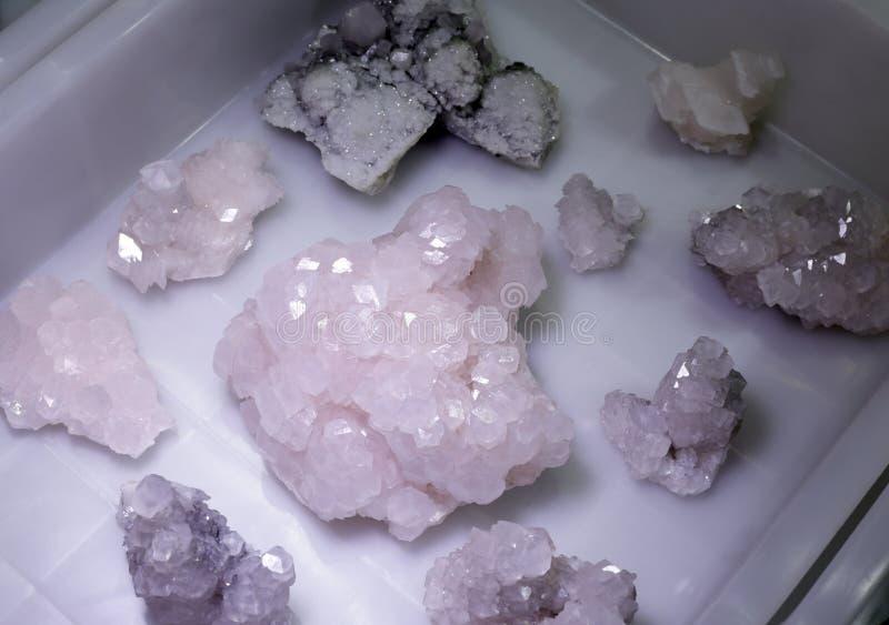 Mineral cristalino natural, adobe rgb imagenes de archivo
