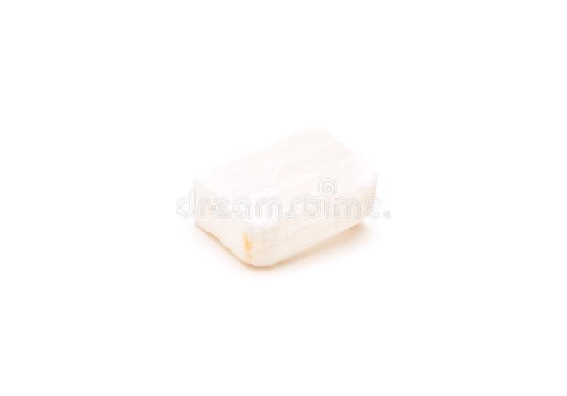 Mineral da gipsita do selenito isolado fotografia de stock royalty free