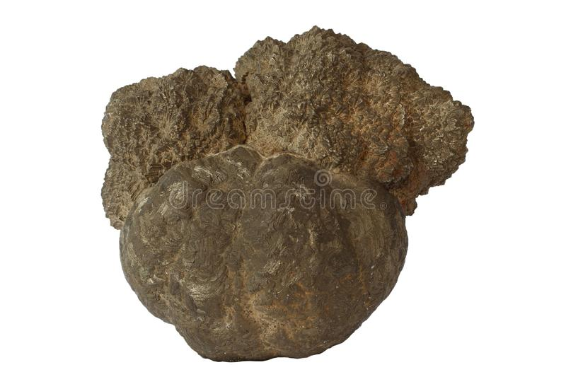 Mineral da pirite isolado fotos de stock