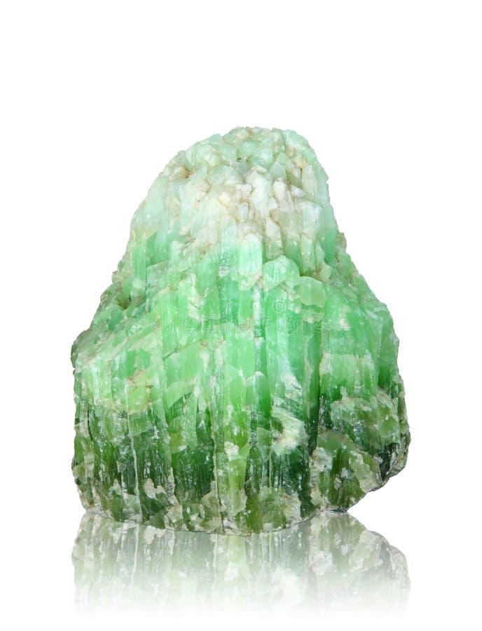Mineral de la naturaleza de la piedra del jade con la trayectoria de recortes imágenes de archivo libres de regalías
