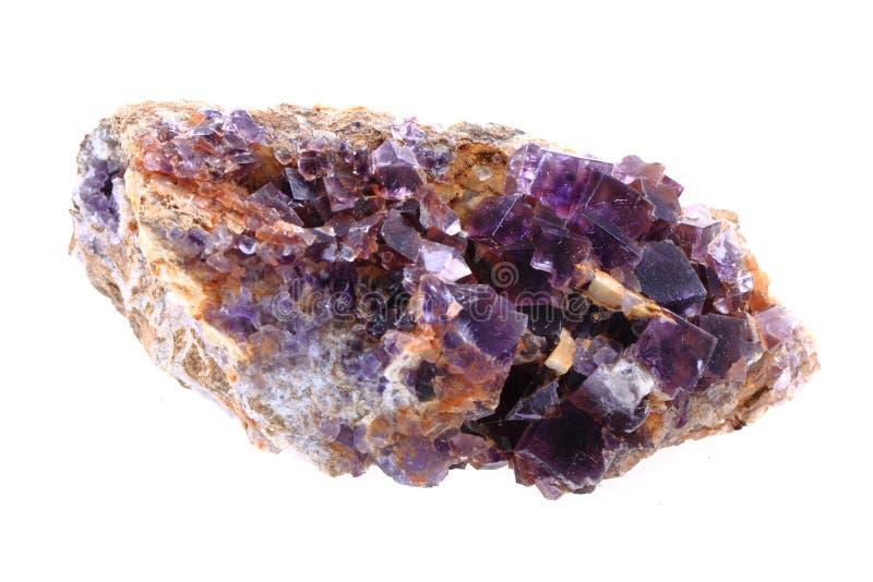 Mineral del fluorito aislado imagen de archivo libre de regalías