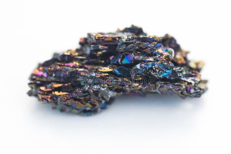 Mineral do carboneto do silicone isolado sobre o branco foto de stock royalty free