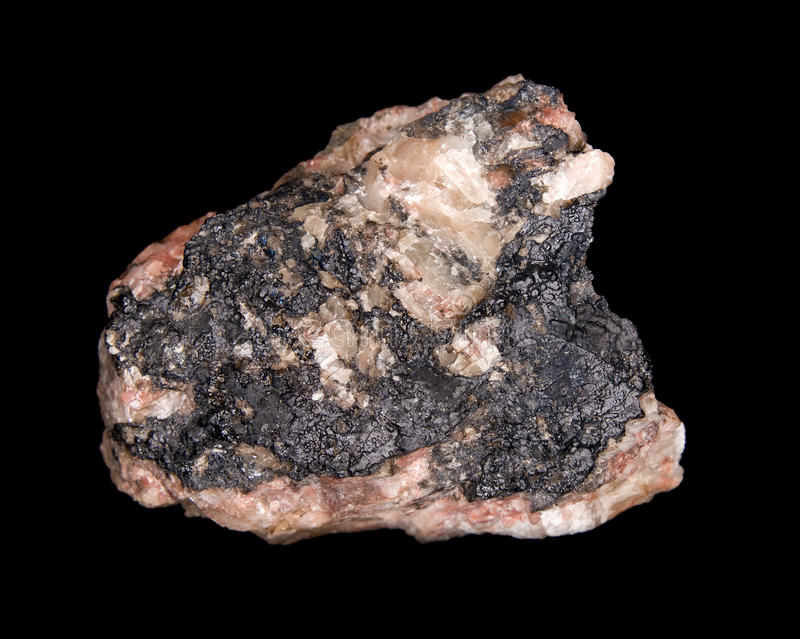 Mineral do Uraninite fotografia de stock royalty free