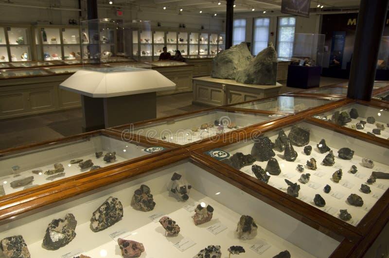 Mineral en el museo de Harvard de la historia natural fotos de archivo libres de regalías
